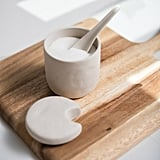 Beige Stoneware Sugar Canister