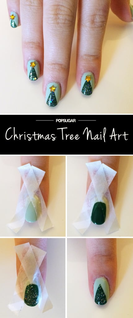 Christmas Tree Nail Art Popsugar Beauty