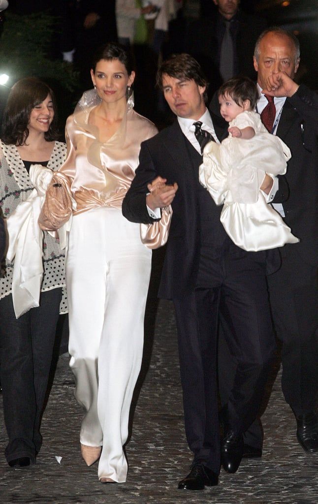 Tom Cruise and Katie Holmes celebrated with baby Suri Cruise.