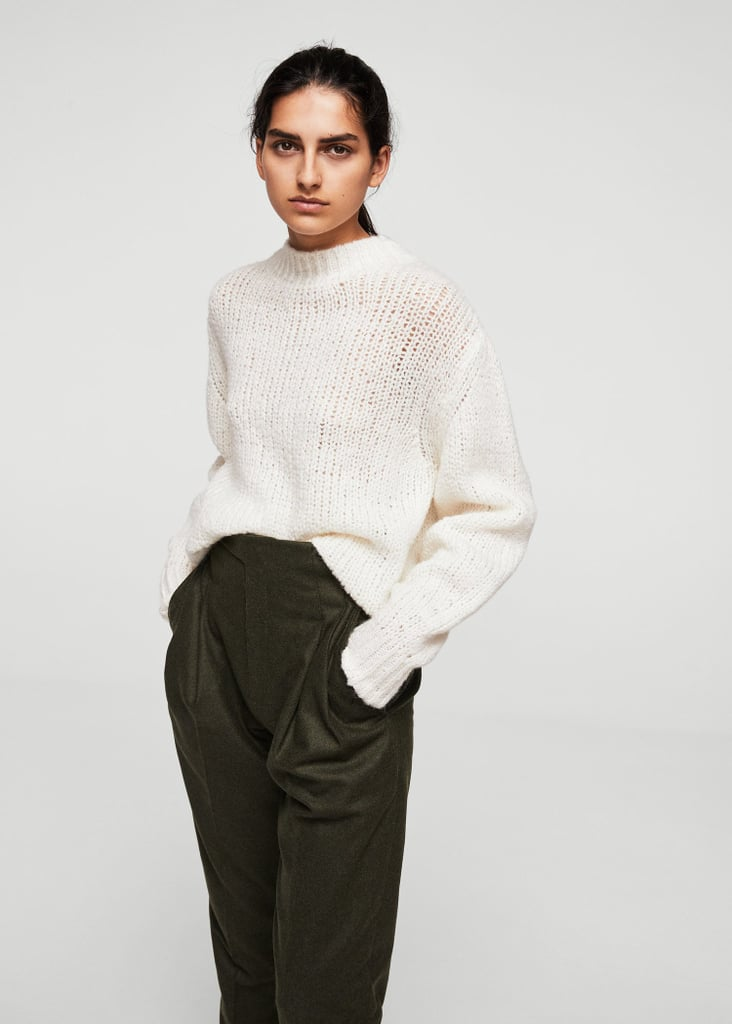 Mango High Collar Wool Sweater