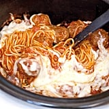 Slow-Cooker Cheesy Spaghetti and Meatballs