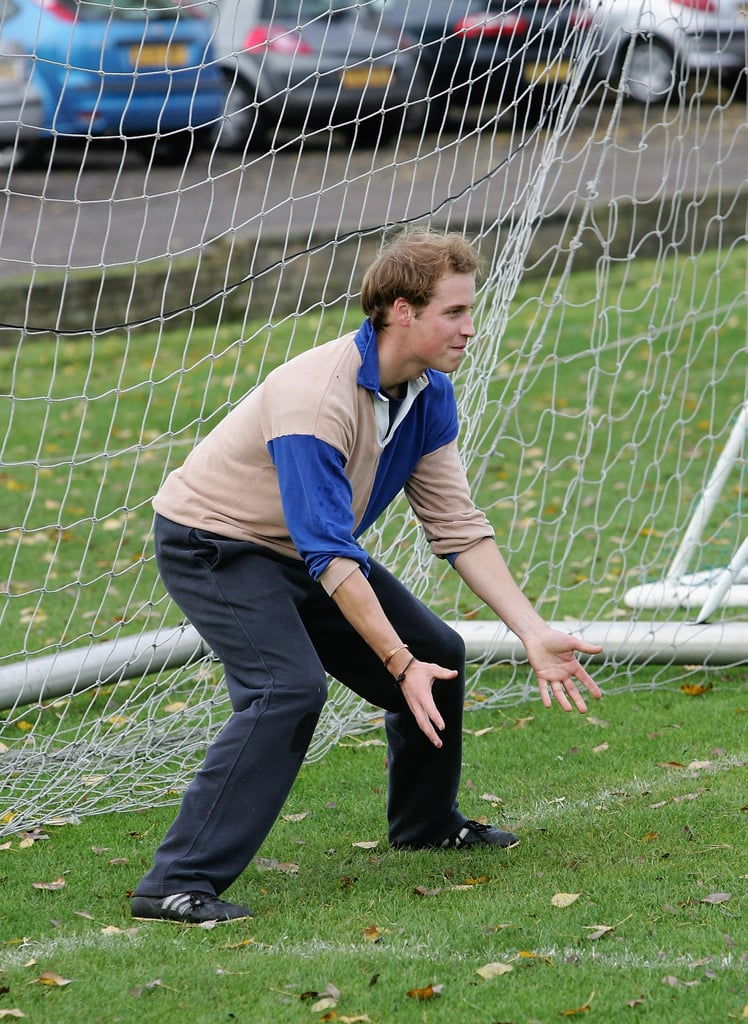 He tried his hand at goal keeping in London in October 2005.