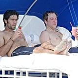 Shirtless Adrian Grenier Heads to the Beach Without an Entourage