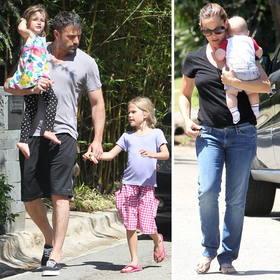 Ben Affleck and Jennifer Garner With Three Kids Pictures