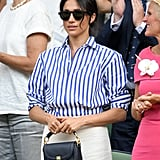 The sunglasses come in a number of different colours, but Meghan chose the classic matte black.