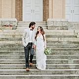 The photographer scouted a few places and liked this one the most for the courthouse setting.