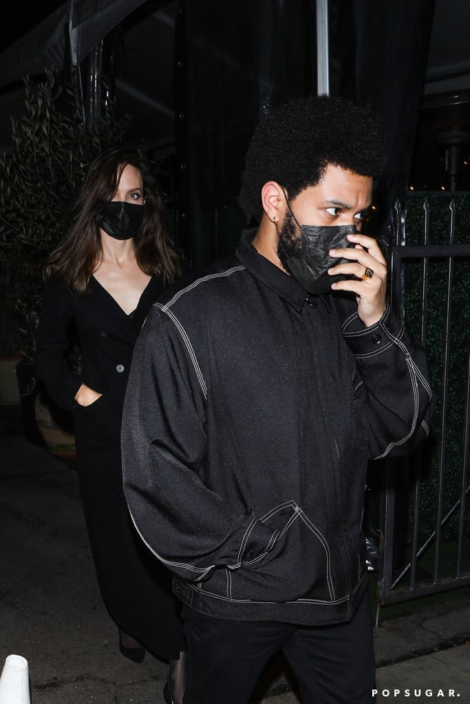 September 2021: Angelina and The Weeknd Dine Out