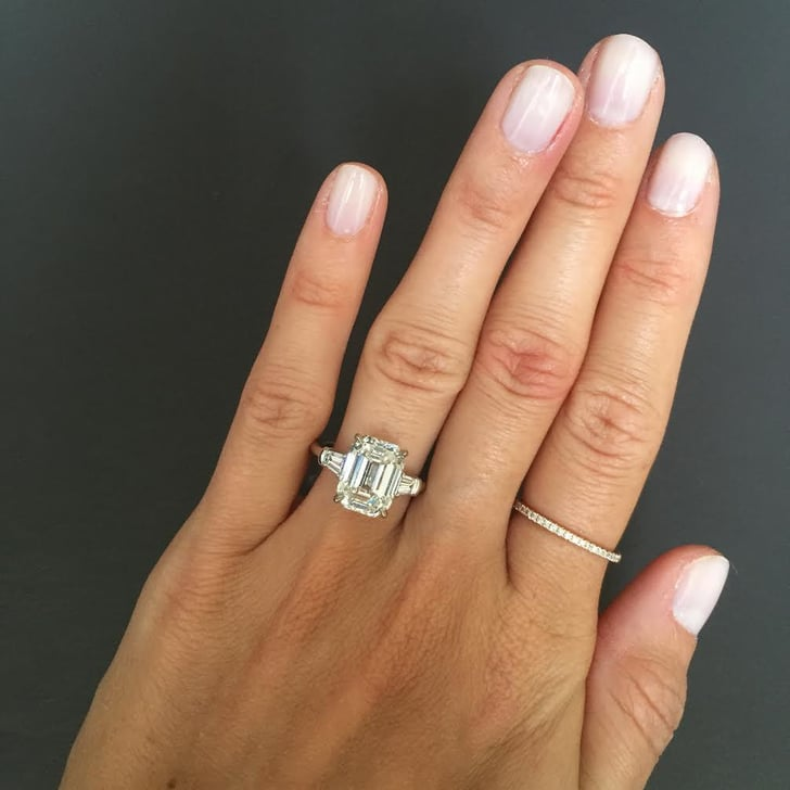 Stephanie Gottlieb Emerald Cut Engagement Ring With