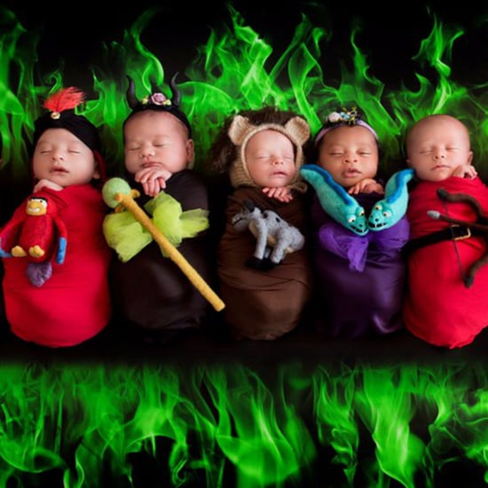 Disney Villain Newborn Photo Shoot