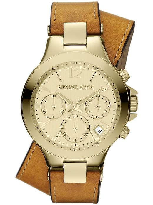 A jet-setting friend requires a sleek, multifunctional timepiece, like the Michael Kors Peyton watch ($225).