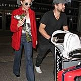 Joshua Jackson Brings Diane Kruger Roses at LAX