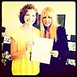 Rachel Zoe helped design a handbag with a Make a Wish Foundation winner named Zoe. Source: Instagram user rachelzoe