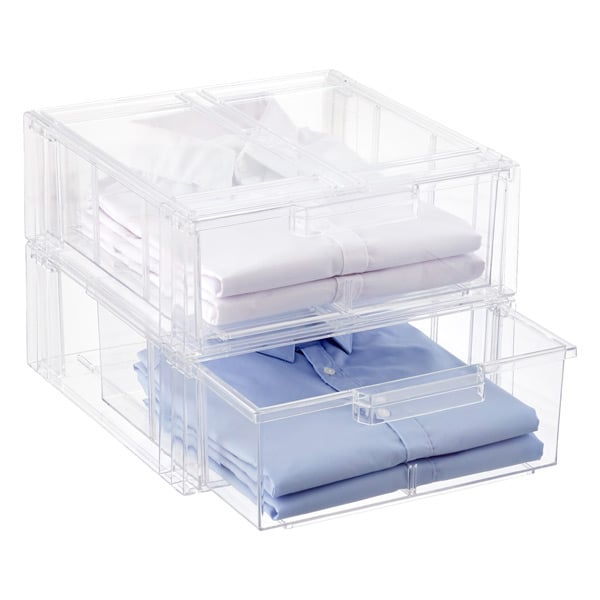 Clear Stackable Drawers