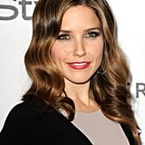 Sophia Bush gave a close-up of her color-blocked ensemble.