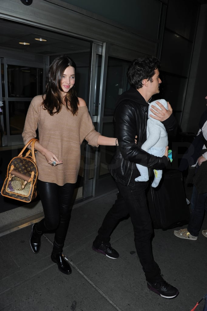 Miranda Kerr, Orlando Bloom, Flynn, and Frankie Are the Family That Travels Together