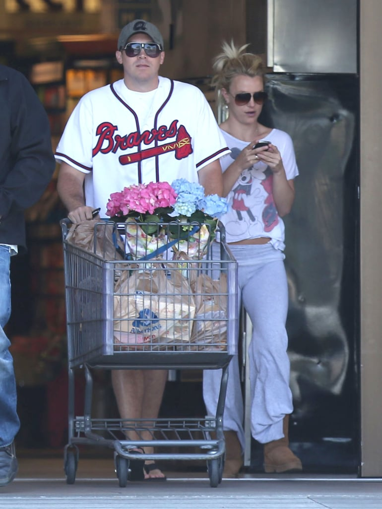 Britney Spears and David Lucado went grocery shopping.