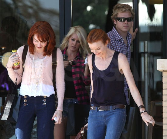 Photo Slide of Marcia Cross at Barneys in LA With Heidi Montag and Spencer Pratt