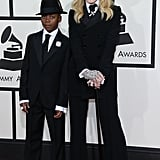 Not only did Madonna bring her young son David Banda to the Grammys, but the duo dressed alike on the red carpet as well.