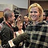 Brooklyn Decker was cozy in a cape.