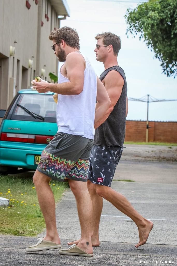 Chris And Liam Hemsworth In Australia December 2015