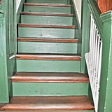 Before: Medieval Toile Stairs