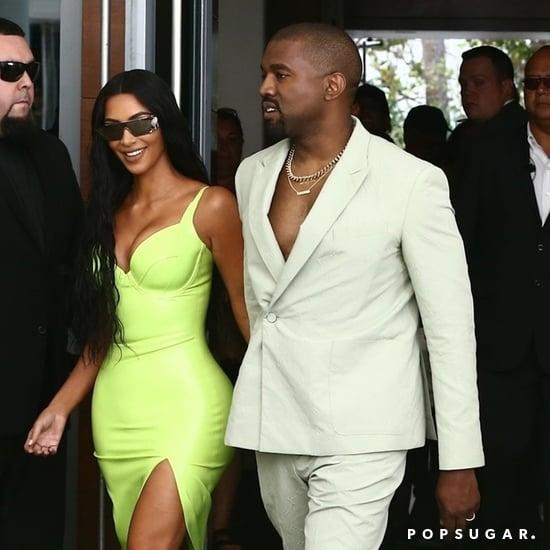 Kim Kardashian Green Dress at 2 Chainz's Wedding