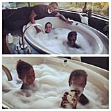 Diddy hung out with his twin daughters at home. Source: Instagram user iamdiddy