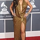Kim Kardashian at the Grammy Awards in 2011