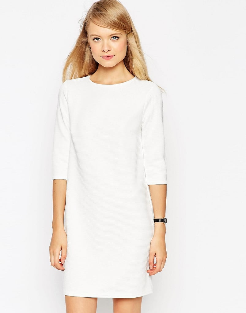 ASOS Collection Shift Dress in Jumbo Rib with 3/4 Sleeves ($22)