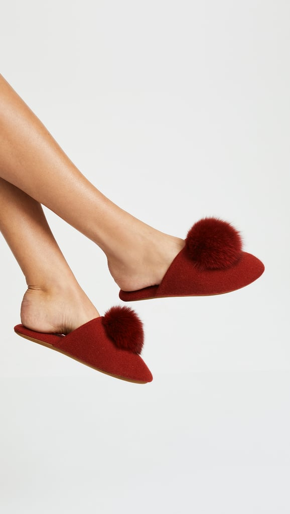 Minnie Rose Pom Pom Slippers