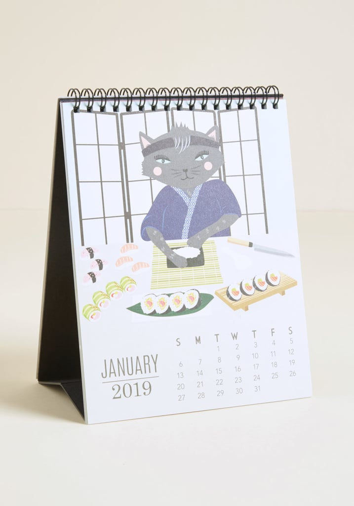 Paper Source Do It Year Self 2019 Desk Calendar Cat Lady Gifts