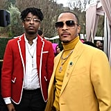 21 Savage and T.I. at the 2020 Roc Nation Brunch in LA