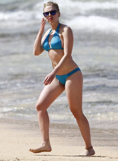 Scarlett Johansson vacationed in Hawaii in February 2012 with then-boyfriend Nate Naylor.
