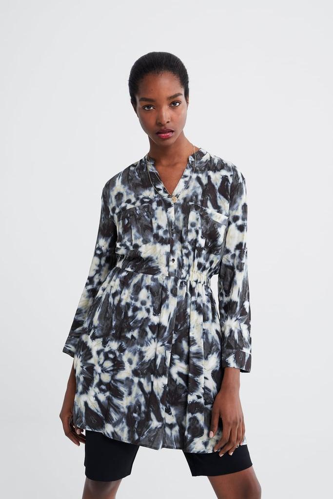 Zara Tie Dye Printed Dress