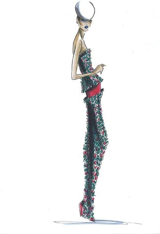 Preview Spring 2011 Couture Sketches from Armani, Valentino, Elie Saab; Plus, Luxury Executives Say Couture Is Thriving