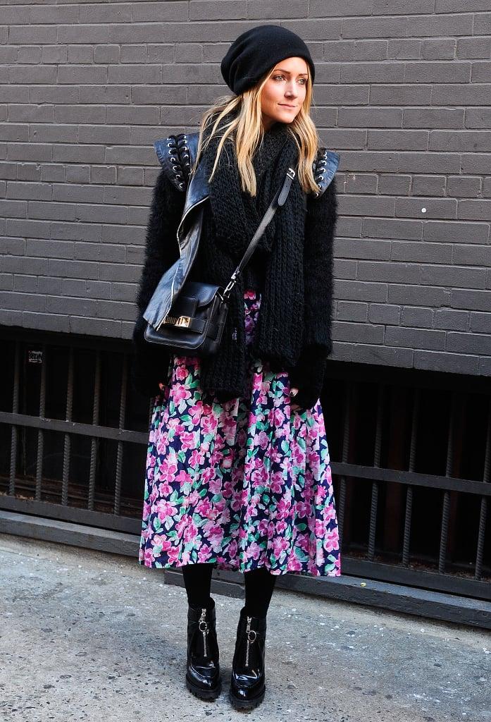 Style a Feminine Full Skirt For Winter