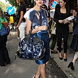 Denni Elias is carrying one fierce Givenchy bag as she arrived at the Emporio Armani show — are you a fan?