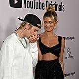 Justin and Hailey Bieber at the Seasons Premiere