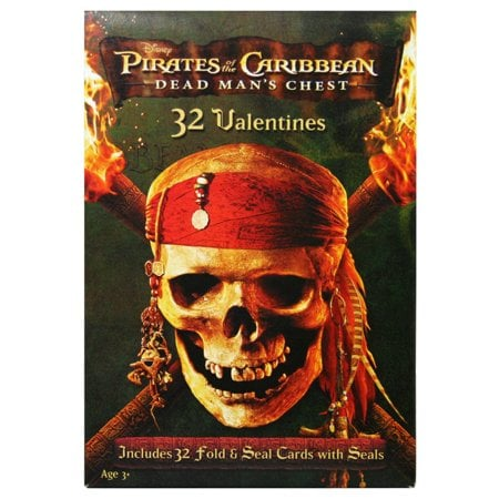 Pirates of the Caribbean Valentine's Day Cards