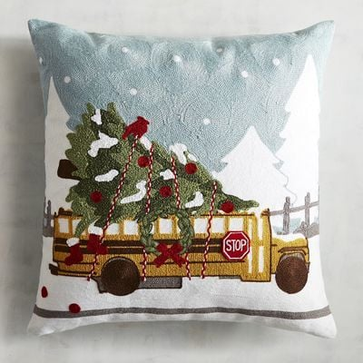 Imports Embroidered School Bus Pillow ($35)