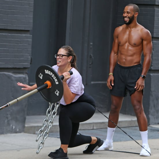 Ashley Graham and Justin Ervin Working Out in NYC July 2018