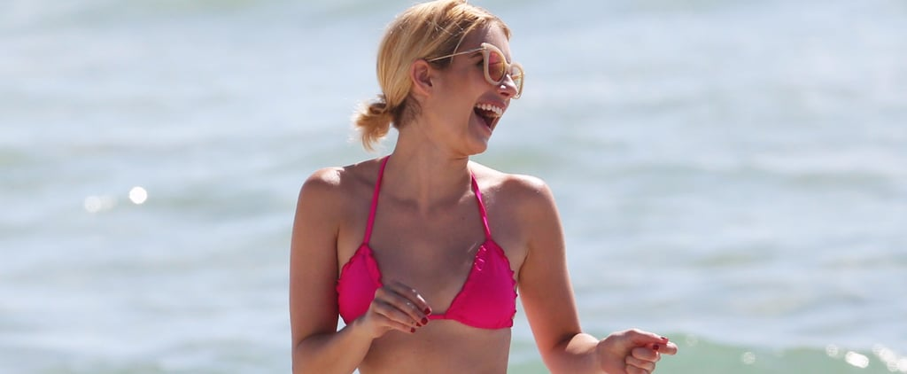 Emma Roberts Channels Her Scream Queens Character in a Hot Pink Bikini on the Beach