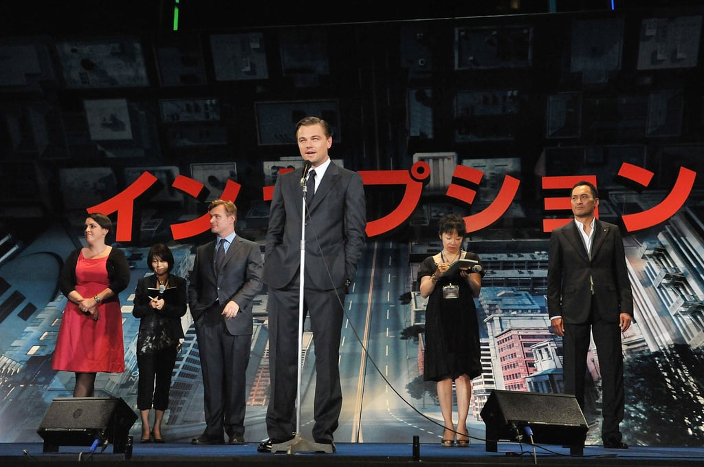 Leonardo DiCaprio and Ken Watanabe at the Japan Premiere of Inception