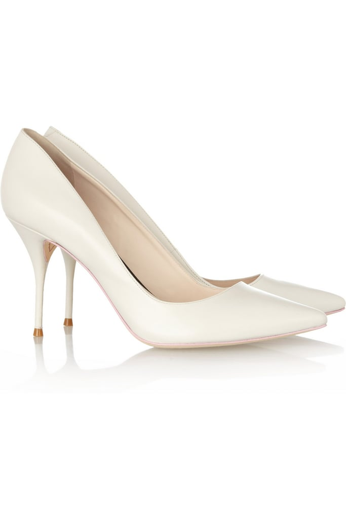 I have been fighting against the white pump trend for months, but when I saw Brit It girl Sophia Webster's take ($320) on them (from an exclusive capsule collection for Net-a-Porter), I was sold. The heel is walkable, the pointed toe is roomy enough, and the shade is just shy of stark. Count me on the bandwagon.  — MLG