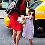 Katie Holmes picked Suri Cruise up in NYC.