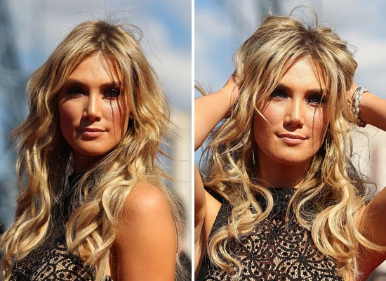 Pictures of Delta Goodrem's Hair and Makeup from the 2011 ARIA Awards