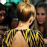 The back of Nicole Richie's dress.