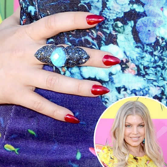 Fergie put the spotlight on her ruby red nails at the 2013 Kids' Choice Awards, wearing them in her signature almond shape.