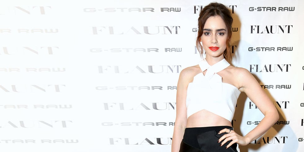 Lily Collins Knows Her Way Around a Crop Top