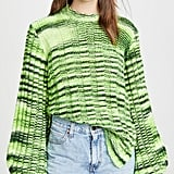 Ganni Neon Melange Knit Sweater